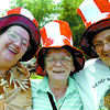 Citizen photo by David Mah Rose Went, left, Donna Anthony, and Bonnie Potter were the 3 amigos at Canada Day with their matching hats.