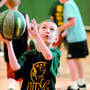 """Citizen photo by Brent Braaten Demian Dron ,6, shoots a basket during the UNBC Athletics youth summer basketball camps sponsored by The Citizen and Brownridge Insurance. They go this week from 9-4pm at the UNBC Northern Sport Center. The next camps are  August  5th -8th,  grades 3-6 are 9-noon and Grades 7-10  are11-4pm. There are spaces available in all camps and registration can be found on  <a href=""""http://www.unbc.ca/athletics"""">http://www.unbc.ca/athletics</a> or by calling 250-960-6366"""
