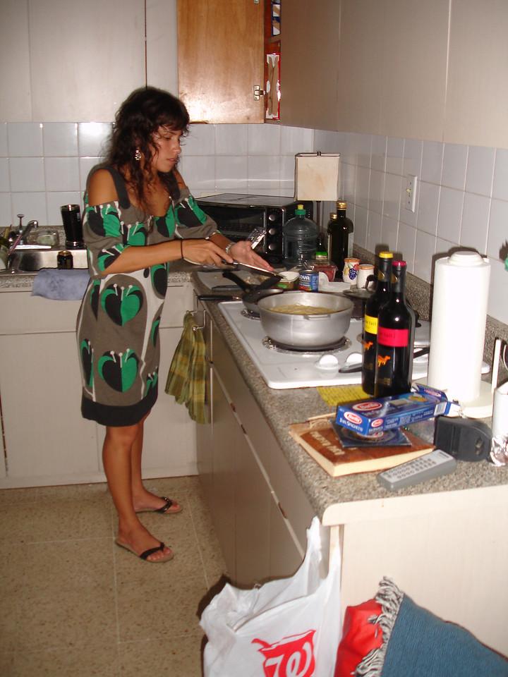 Michelle makes us dinner