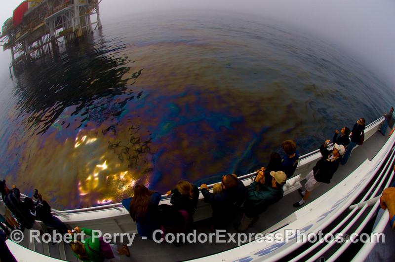 oil platform Holly fisheye golden oil 2008 09-27 Goleta Coast - 254