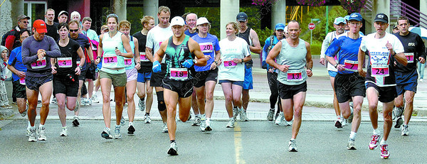 Citizen photo by David Mah 35th Annual Labour Day Classic 17 Mile runners begin their race.