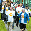 Citizen photo by Brent Braaten Walkers start out in Fort George Park Sunday morning in The Winners Walk of Hope to help find a cure for ovarian cancer. This is the first time this event has been held in Prince George and locally they raised over $2,200 for the cause.