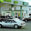 Citizen photo by Brent Braaten Cars line-up to get gas at $136.9 a litre at  Save-On Foods Gas bar in Parkwood Friday afternoon. Prices arouind Prince George went up to $147.9 a litre.