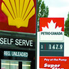 Citizen photo by David Mah Both Shell and Petro-Canada at 5th Avenue and Carney Street raised thier gas prices 11 cents Friday.