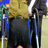 Citizen photo by David Mah Don McMullen, left, is inverted by Dr. Robert Ellis at the Prince George Fall Homeshow. The inversion table made an almost instant difference by providing better circulation to the muscles, internal organs and vertibrae.