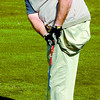 Citizen photo by David Mah Amputee golfer Chris Thulin practices his drives at the Prince George Golf and Curling Club.