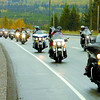 Citizen photo by David Mah The 27th Annual Toy Run took place on the roads around Prince George. Over 500 bikers brought toys for the Salvation Army. Here the bikers head up Foothills Boulevard.