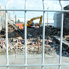 Citizen photo by Brent Braaten The Front facade of the Columbus Hotel is knocked down as the demolision continues.