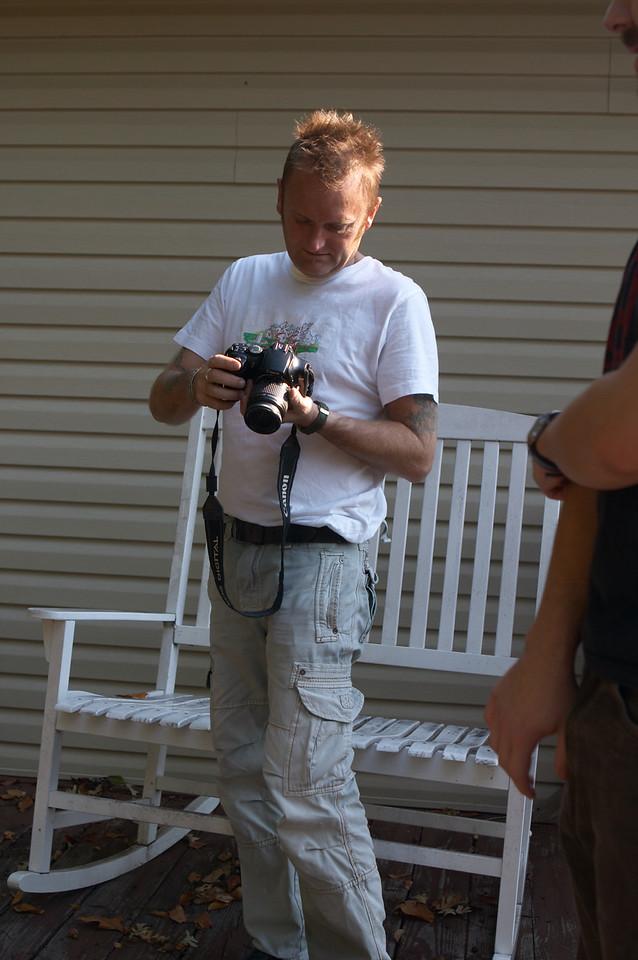 Graham checks his shot