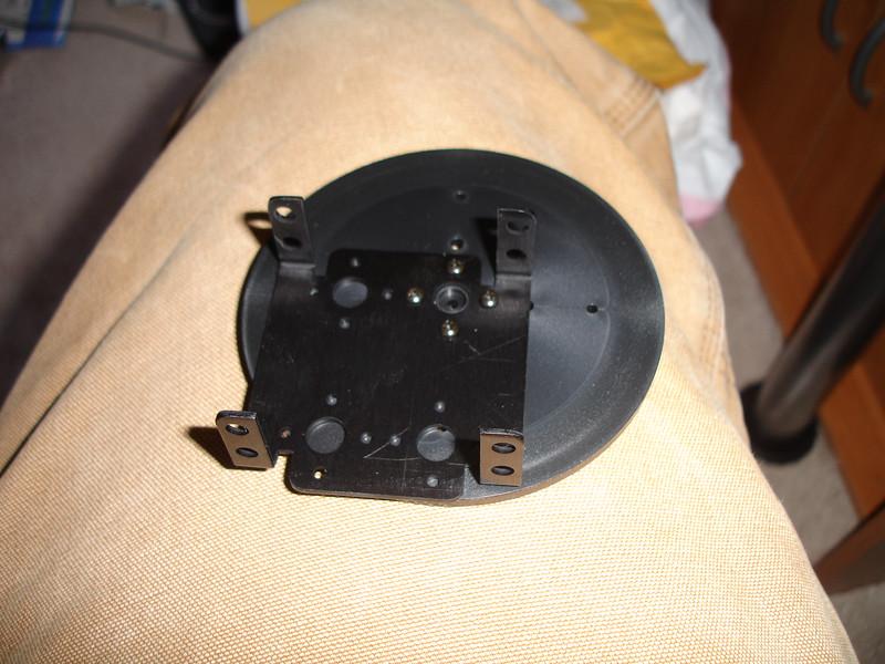 Bracket installed on baseplate