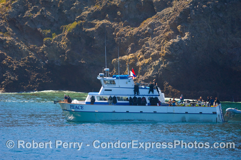 vessel dive boat Peace pulling anchor 2008 10-14 Sta Cruz Island - 016mod
