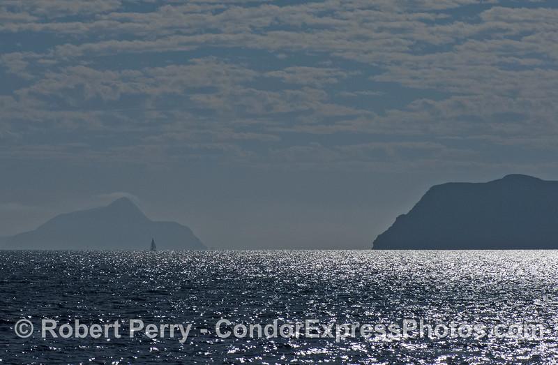 Anacapa Passage looking southeast with sailboat dappled sky 2008 10-18 So Calif Bight - 4108
