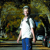Citizen photo by Brent Braaten Zach Saandahl, 12, rides his long board along Ash Street on his way home from school.