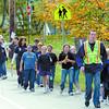 Citizen photo by Brent Braaten Grade5/6 make thier way along the walk.
