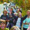 Citizen photo by Brent Braaten Students having fun along the walk.
