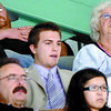 Citizen photo by Brent Braaten Chilliwack Bruins Ryan Howse watches Saturdays game from the stands.