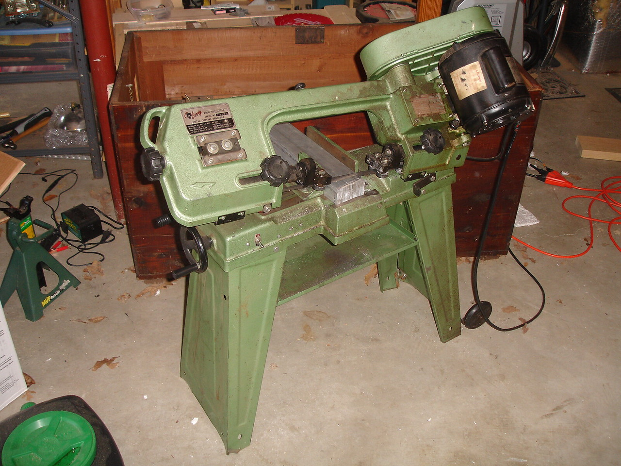 "I found an old 4x6"" metal bandsaw on CraigsList for a great price"