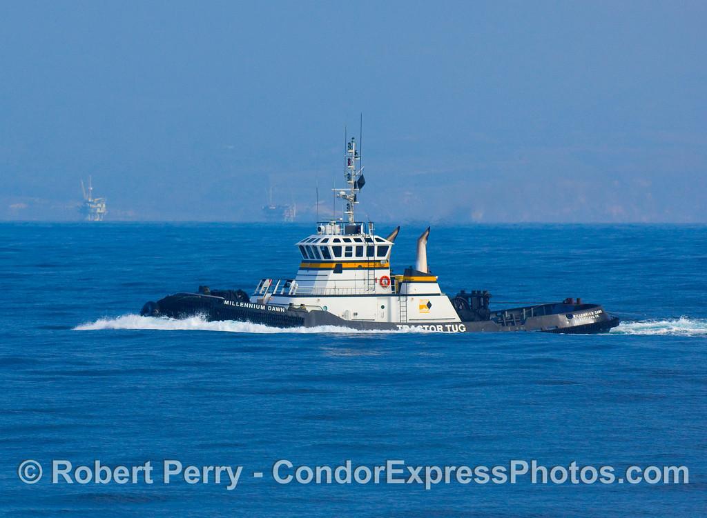 vessel towboat Millenium Dawn close 2008 11-28 SB Channel - 415modCROProt