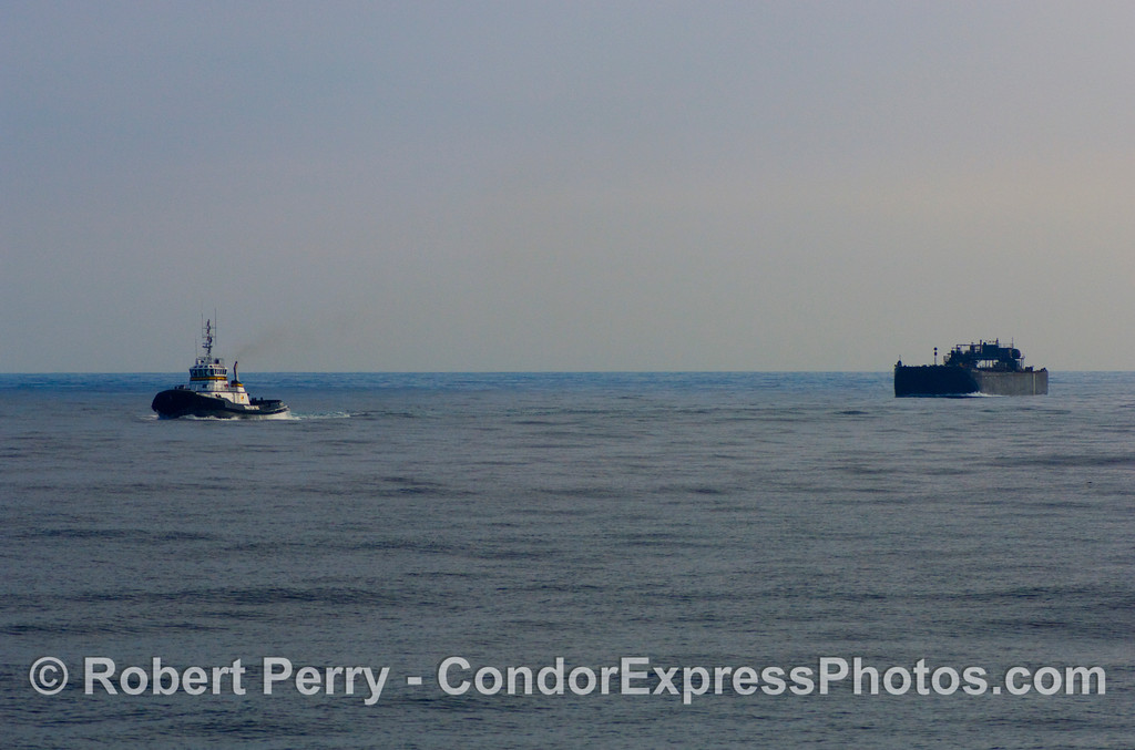 vessel towboat Millenium Dawn towing oil barge 2008 11-28 SB Channel - 409modCROProt