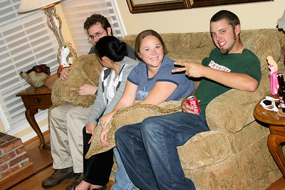 Eric (karl & Sue's son) Min Hei (Eric's wife) Brenna (Aaron's wife) and Aaron (Deb & Gary's son)