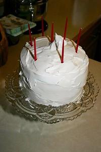 Birthday cake (chocolate with yummy frosting)