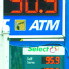 Citizen photo by David Mah Old gas prices at the Shell station at Terminal Boulevard and Highway 97 are seen in underneath the new price of 90.9 at the Super Save station.