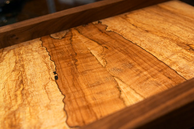 Bookmatched spalted maple