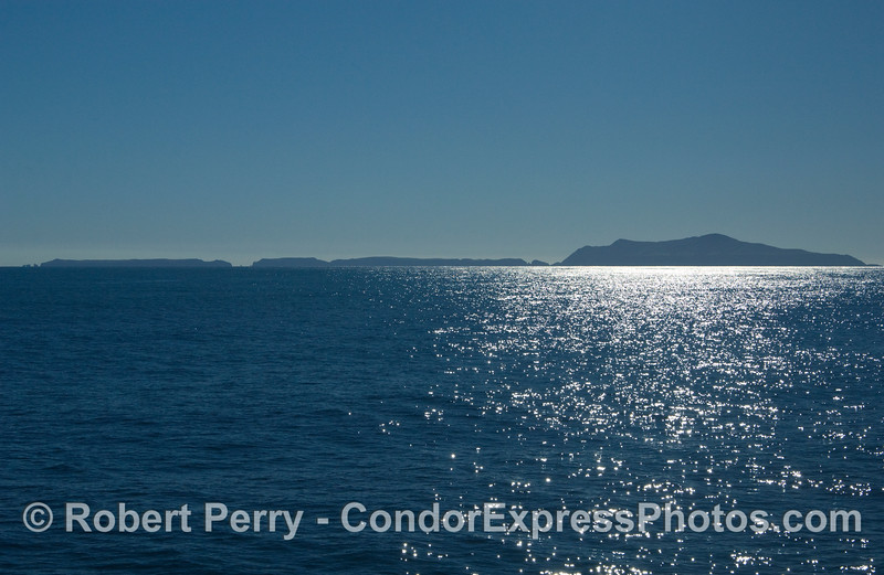 Anacapa Island looking south from the Santa Barbara Channel.