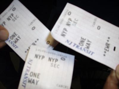 NJ Transit train tickets from Penn Station NYC to Newark, NJ airport