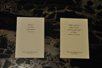 Cards near our beds