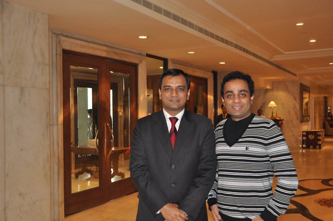 Gracious and kind friend Manish, an executive at the Taj Mahal Hotel in New Delhi