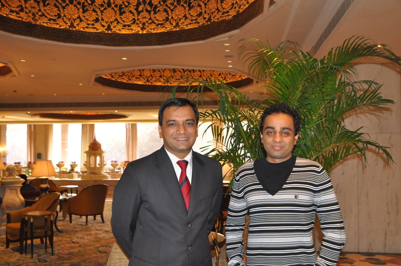 Gracious and kind friend Manish, an executive at the Taj Mahal Hotel in New Delhi