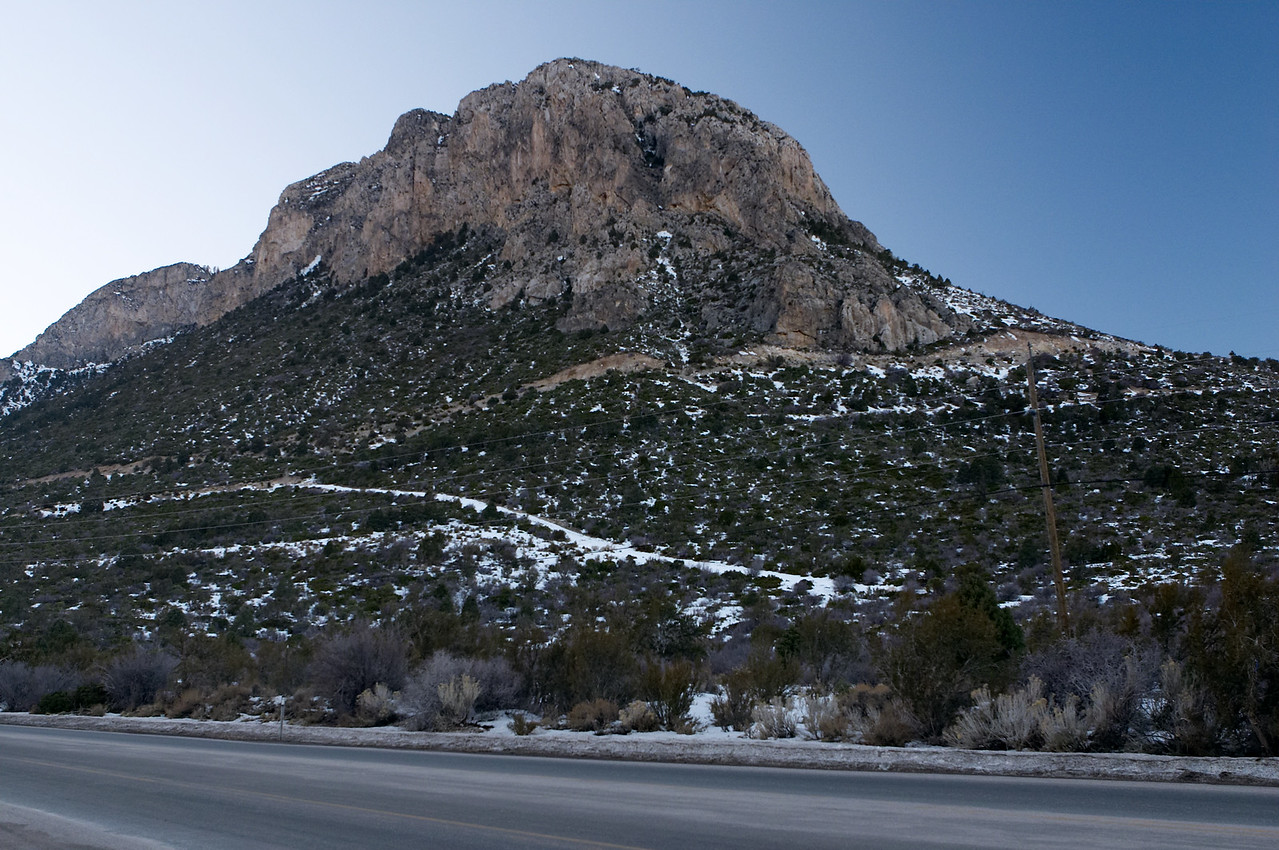 The mountain we went sledding at