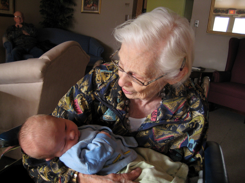 Boone & Great Grandma Eva