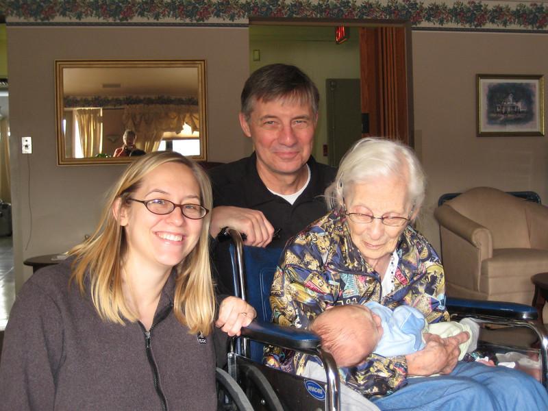 Sara, John, Boone & Great Grandma Eva
