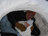 John & Boone in igloo