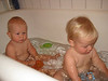 Boone & Wyatt in bath