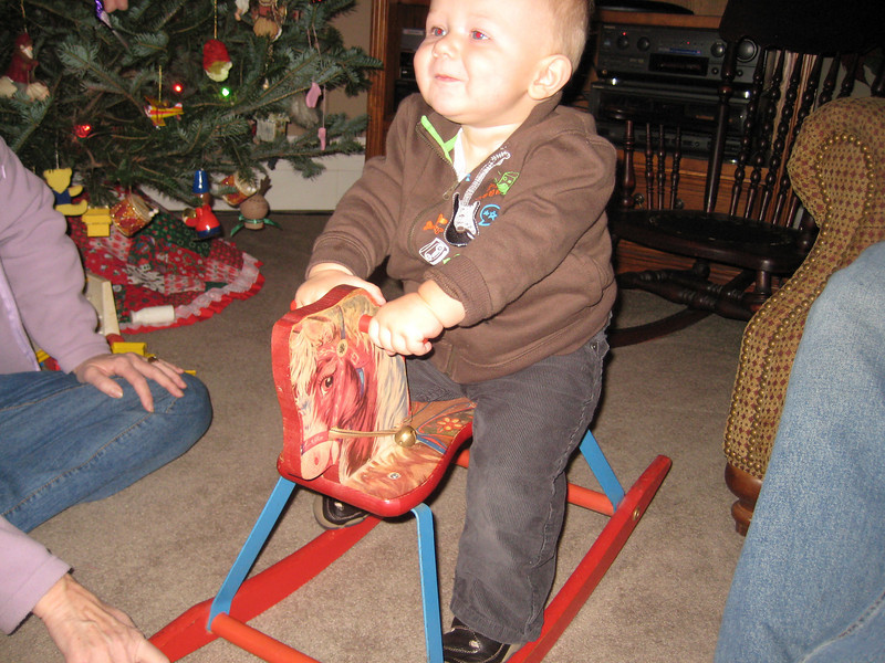 Boone on rocking horse