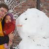 Anna's first snowman