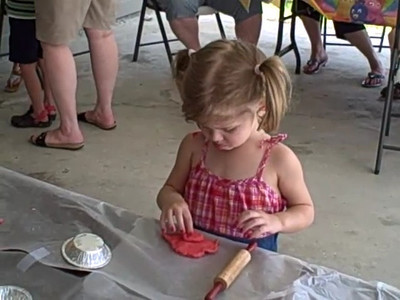 Emily makes her (edible) play-doh pie filling