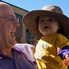 Borrowing Grandpa's hat