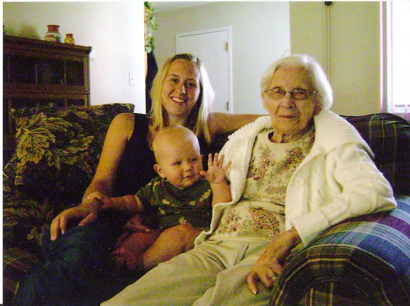 Sara & Boone w/ Grandma Walski
