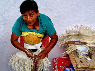 Weaving the hats