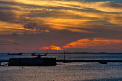 Sunset on Todos Santos Bay