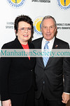 NEW YORK-NOVEMBER 24:  Mayor Michael Bloomberg and Billie Jean King attend 2008 Randall's Island Sports Foundation Champion's for Children's Gala at The Plaza Hotel, New York, NY on Monday, November 24, 2008  (Photo Credit: Gregory Partanio/ManhattanSociety.com)