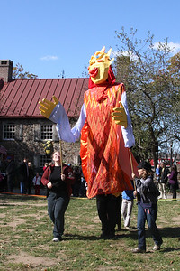 One of the Large Scale Puppets-- There will be a sun, moon and Scorcerer in this Year's Halloween Parade