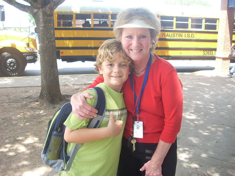 Last day of 2nd grade...Elijah and his teacher