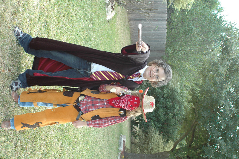 Harry Potter and John Chisum showed up for Halloween