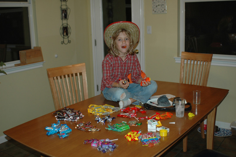 Joshua and his Halloween candy