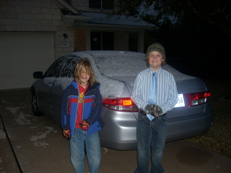 Boys wishing it would snow more